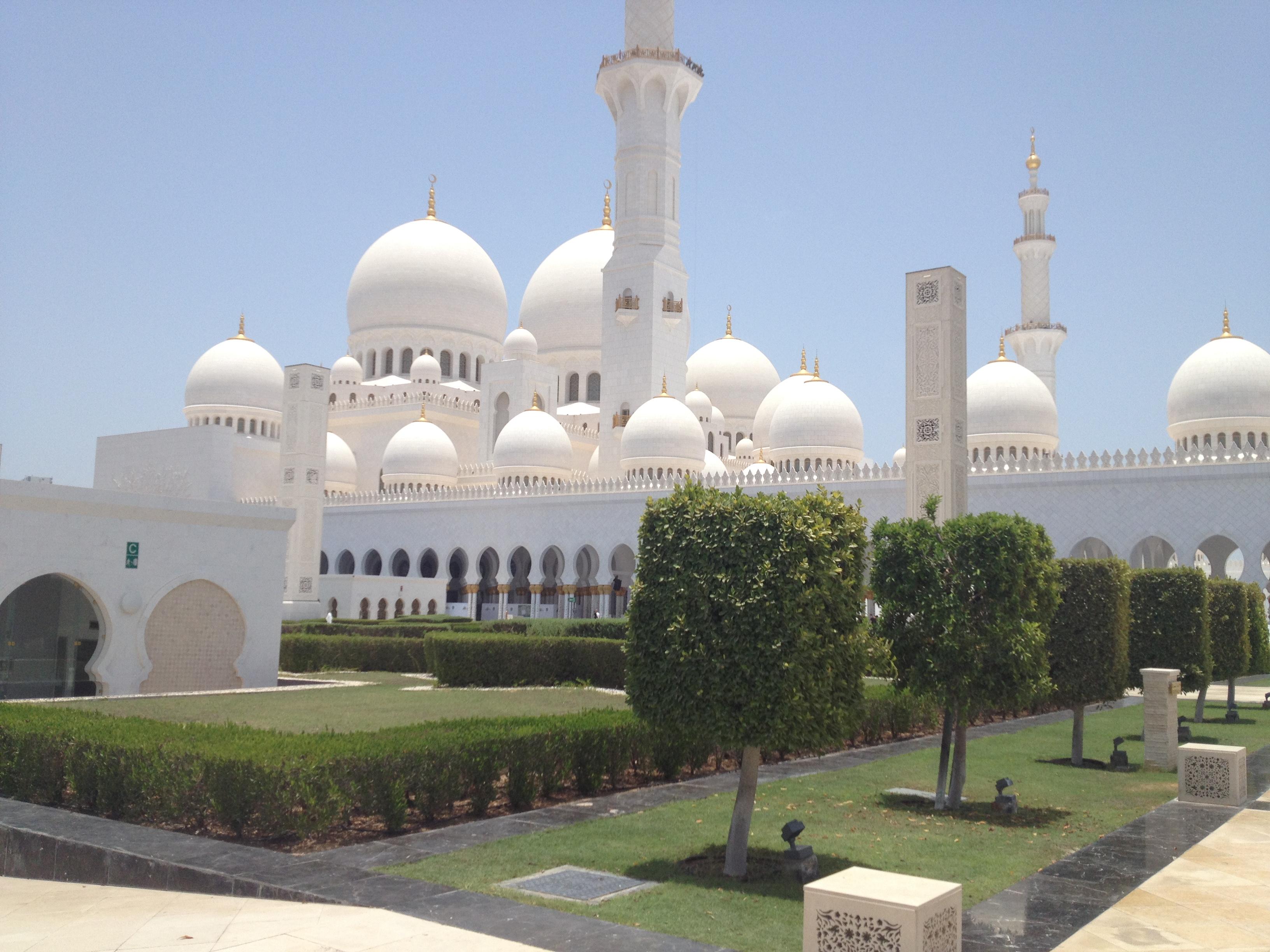 Gartenanlage Scheich Zayid Moschee