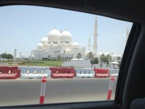 Blick auf die Scheich Zayid Moschee