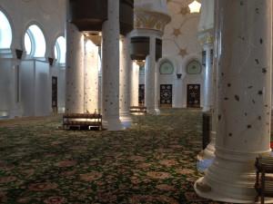 Im inneren der Scheich Zayid Moschee