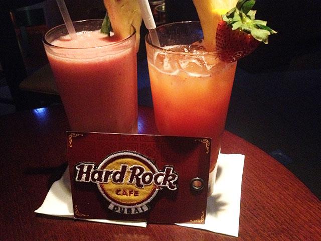 Cocktails im Hard Rock Café in Dubai