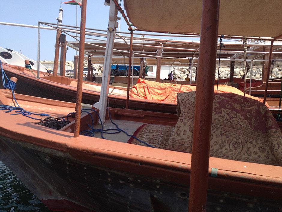 Dhau in Musandam (Oman)