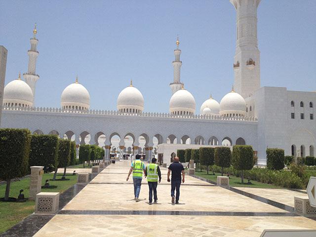 Eingang Scheich Zayid Moschee