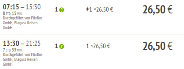 Mein Fernbus von München nach Bratislava
