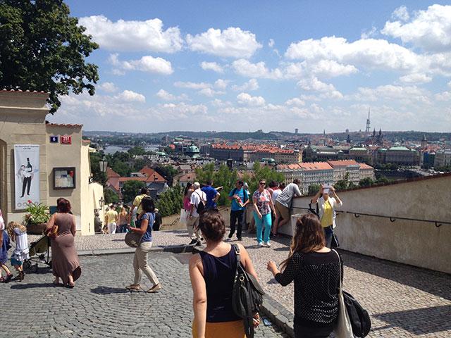 Aufstieg Prager Burg