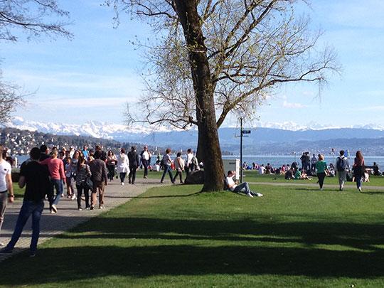 Entspannen am Zürichsee