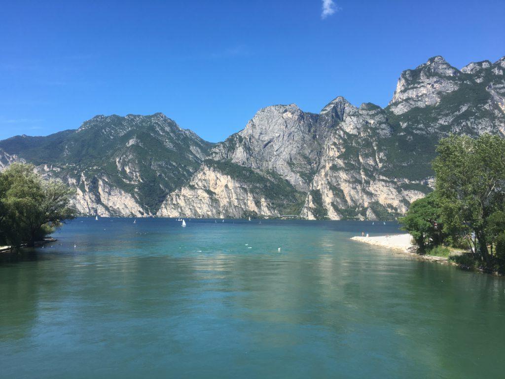 Blick auf den Gardasee von Malcesine