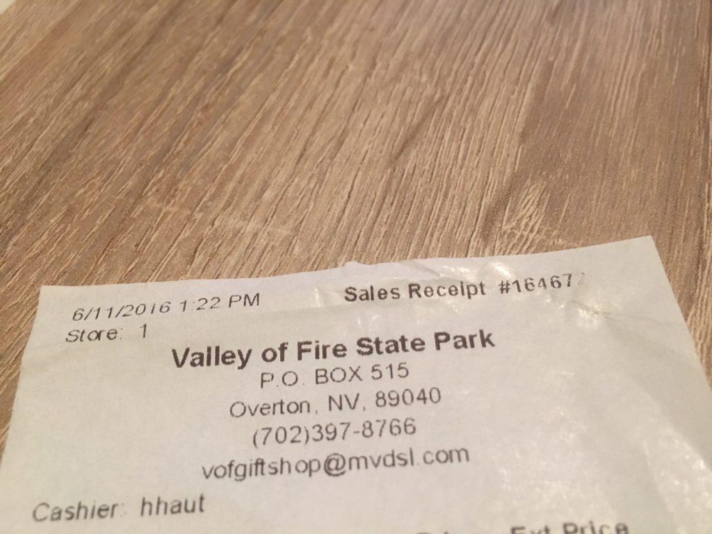 Valley of Fire Eintrittspreis
