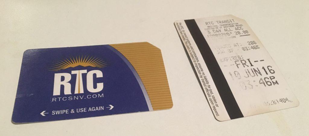 RTC Ticket Las Vegas