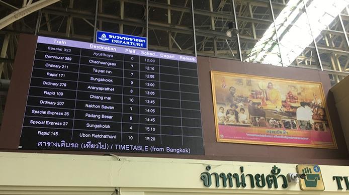 Fahrplan von Bangkok nach Ayutthaya
