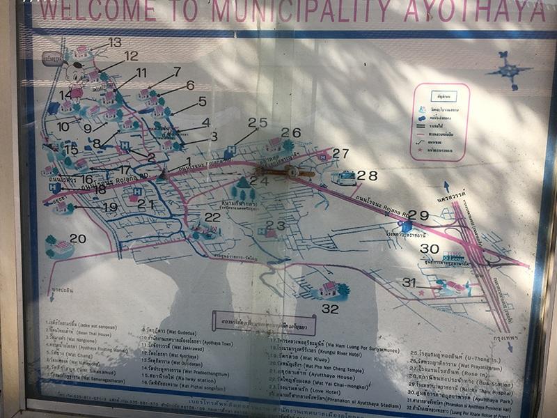 Ayutthaya Stadtplan