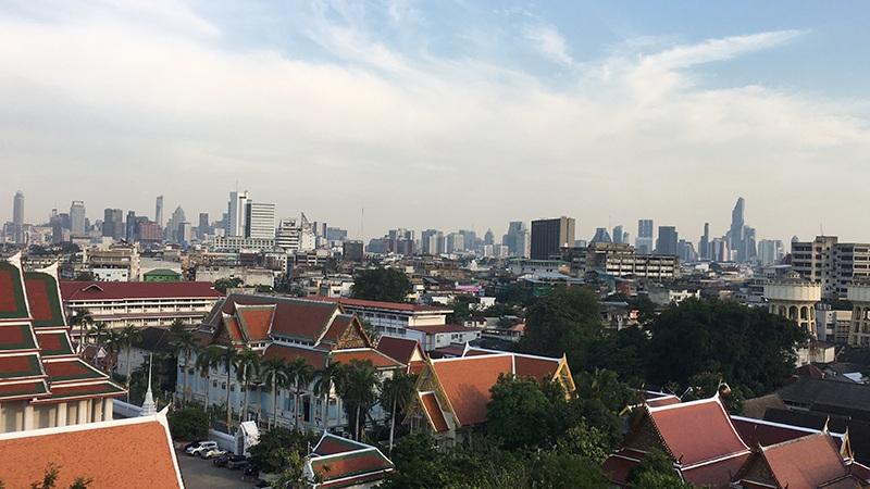 Wat Saket - Blick auf Bangkok