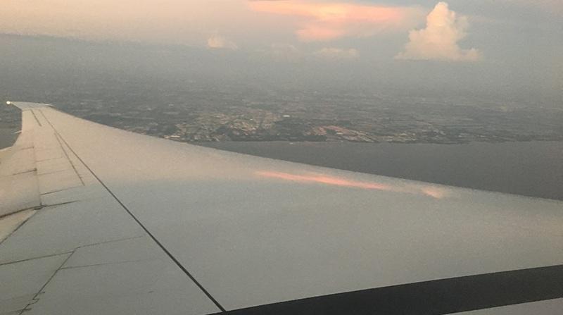 Landeanflug in Bangkok