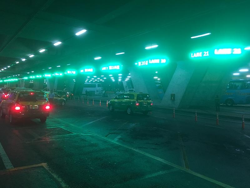 Parkplatz für das Taxi