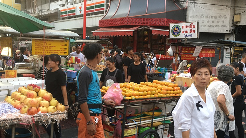 Chinatown in Bangkok - Obstmarkt