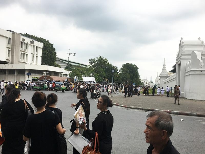 Anfahrt zum Königspalast
