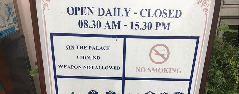 Königspalast in Bangkok - Öffnungszeiten