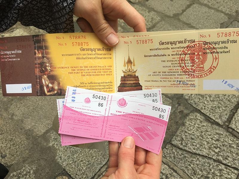 Eintrittskarte zum Königspalast