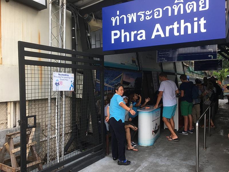 Phra Arthit Pier in Bangkok