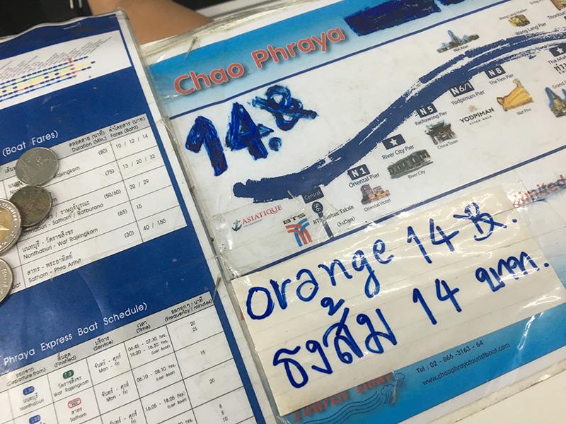 Preis für das Wassertaxi in Bangkok