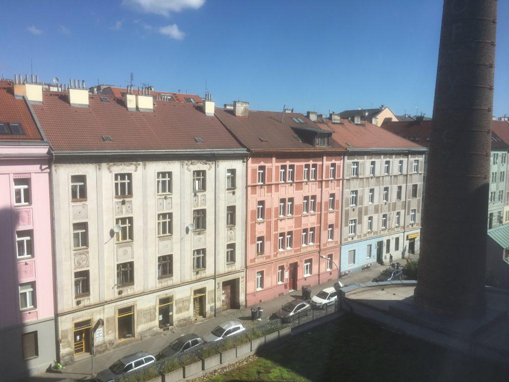 Blick auf dem Airbnb Zimmer in Prag