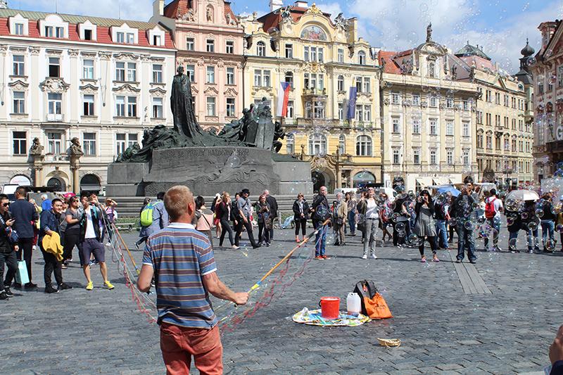 Künstler in der Prager Altstadt