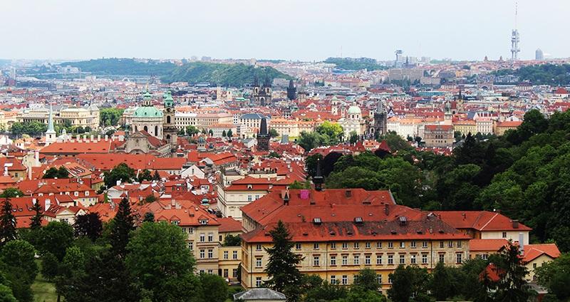 Panorama Blick auf Prag