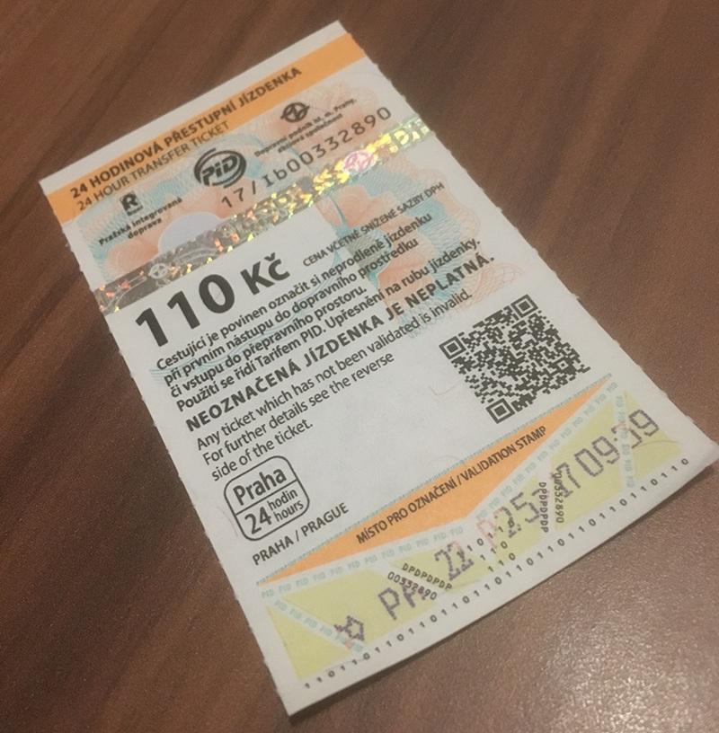 Prag Ticket für Nahrverkehr
