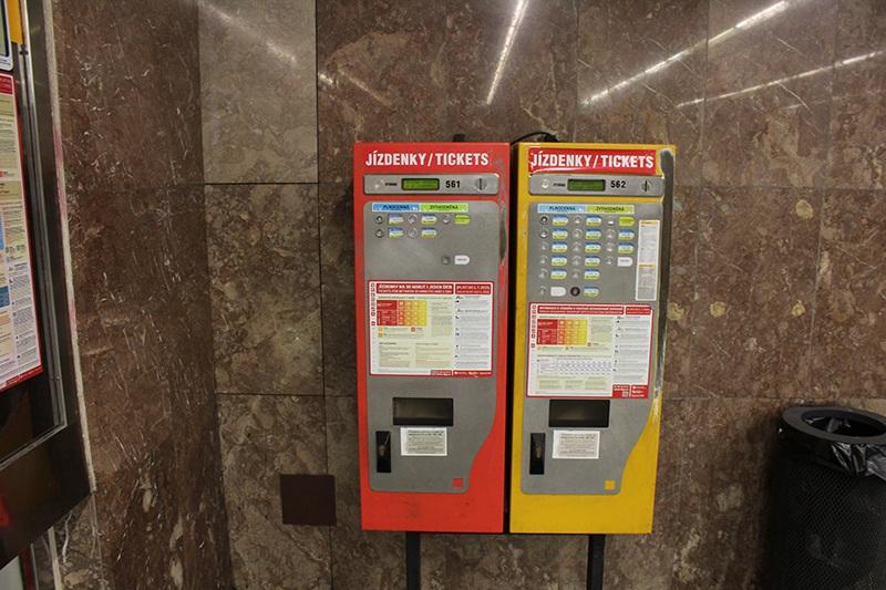Ticketautomat - Nahrverkehr in Prag