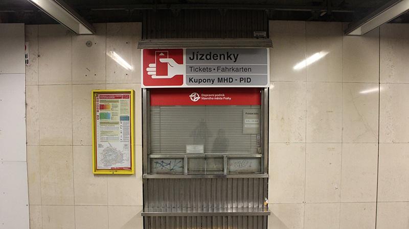 Ticketschalter in Prag