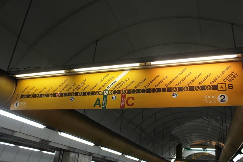 U-Bahn in Prag - Linien