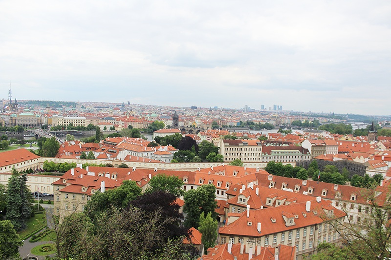 Prager Burg - Blick auf Prag