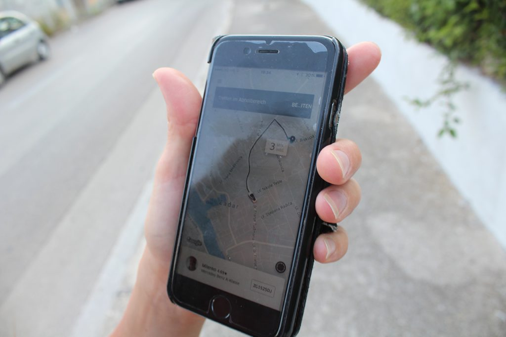 Uber in Split - Kroatien