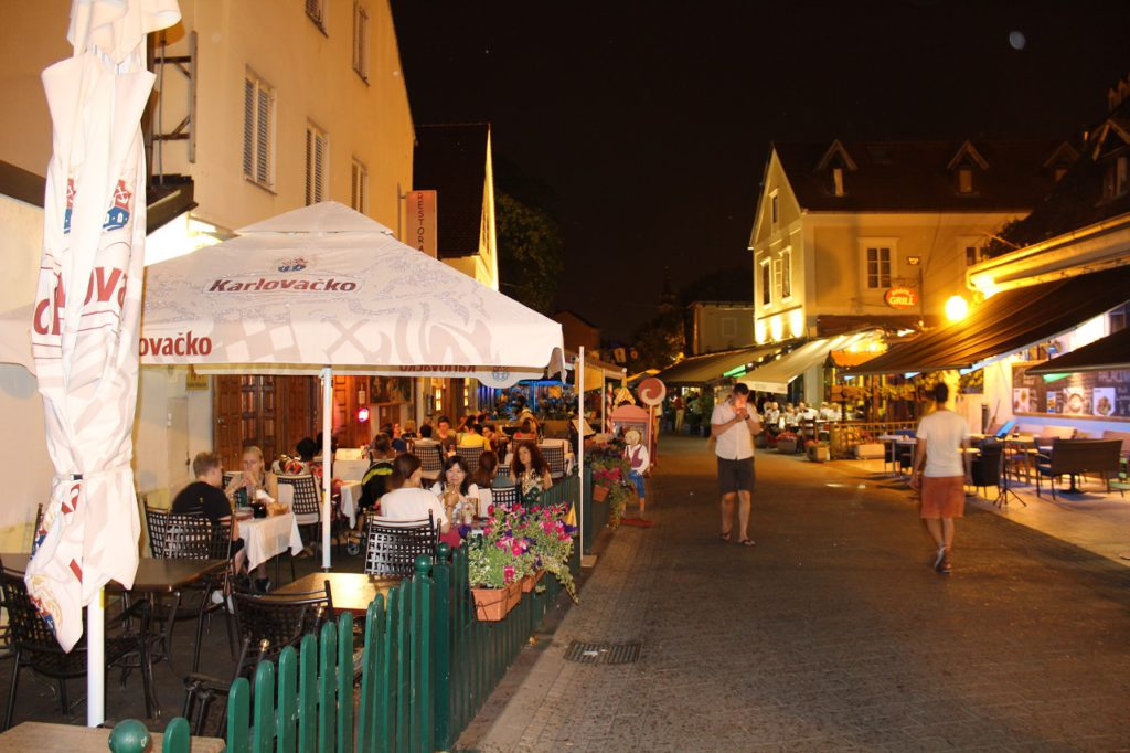 Zagreb Nachtleben - Tkalciceva Straße