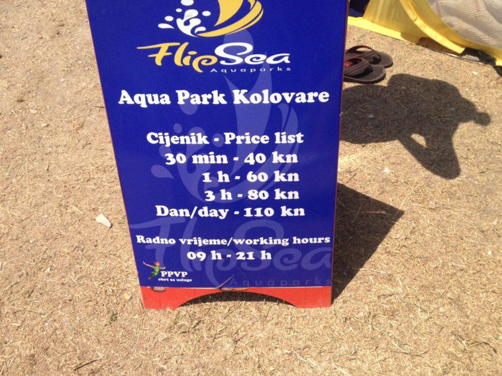 Aqua Park Preise