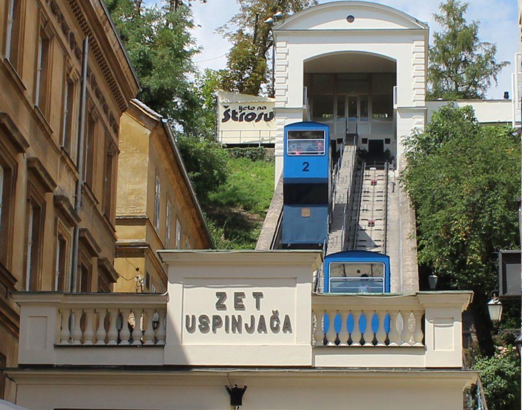 Die Seilbahn in Zagreb
