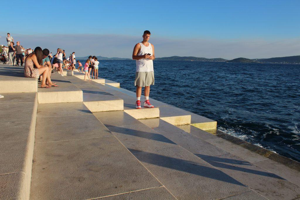 Meeresorgel - Treppe in Zadar