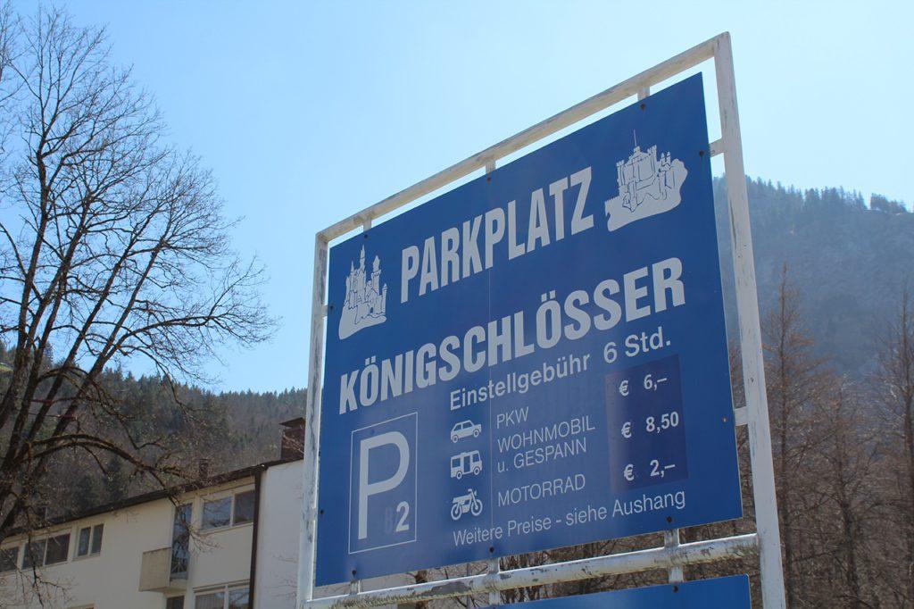 Parkplatz Schloss Neuschwanstein - Neuschwansteinstraße