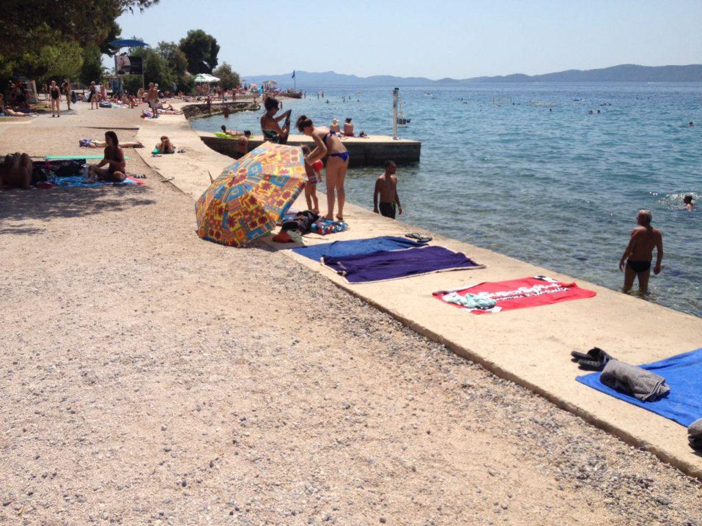 Schöner Strand in Zadar