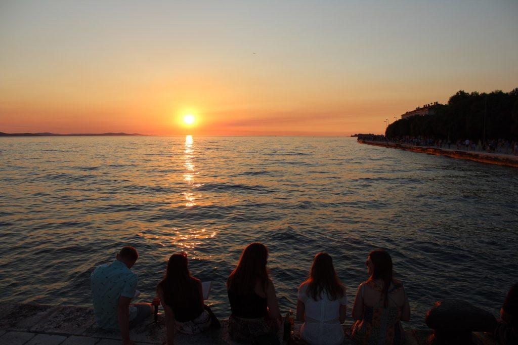 Sonnenuntergang in Zadar