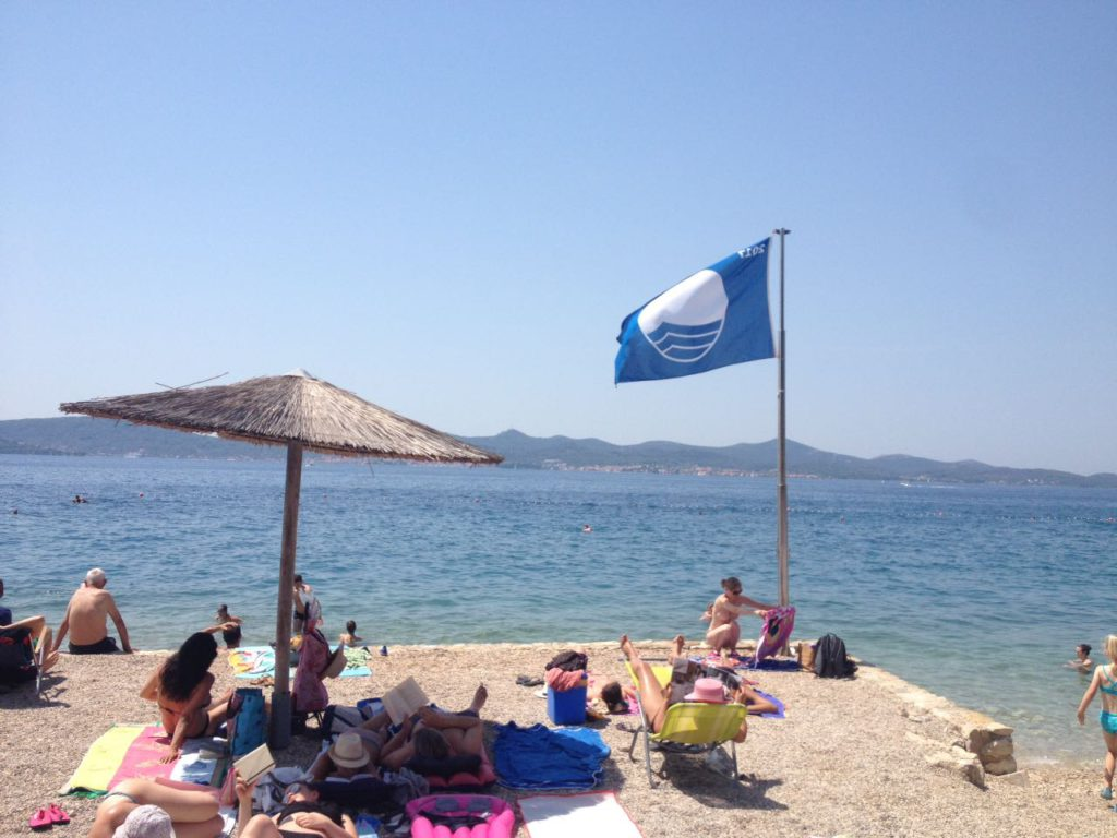 Strand in Zadar - Blaue Flagge