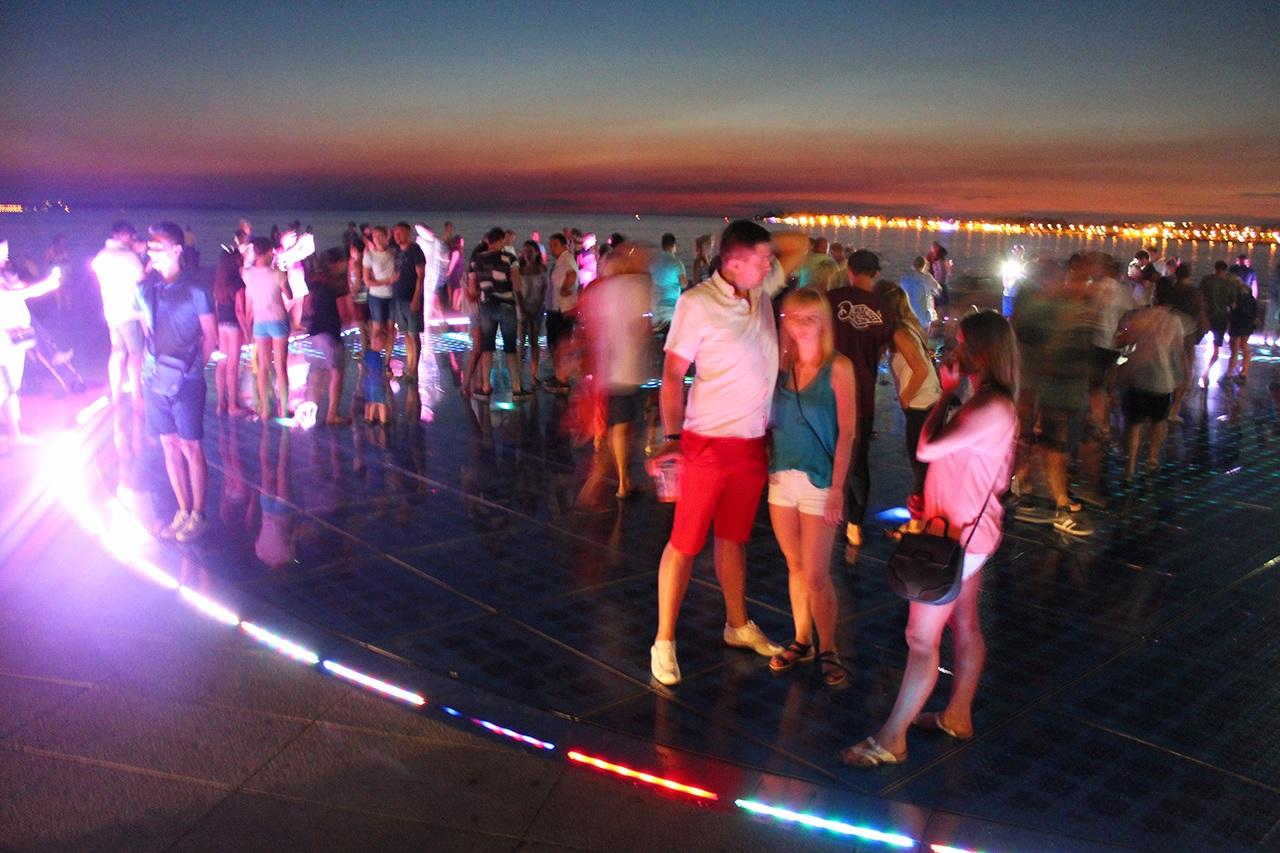 Zadar Sehenswürdigkeit - Gruß an die Sonne