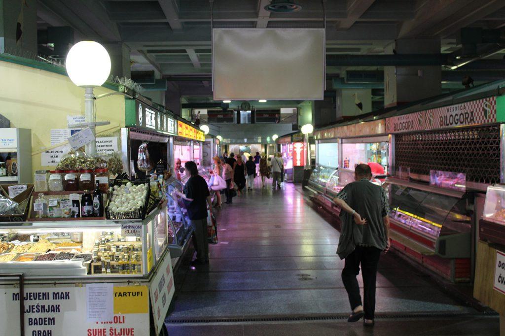Dolac Markt im Keller