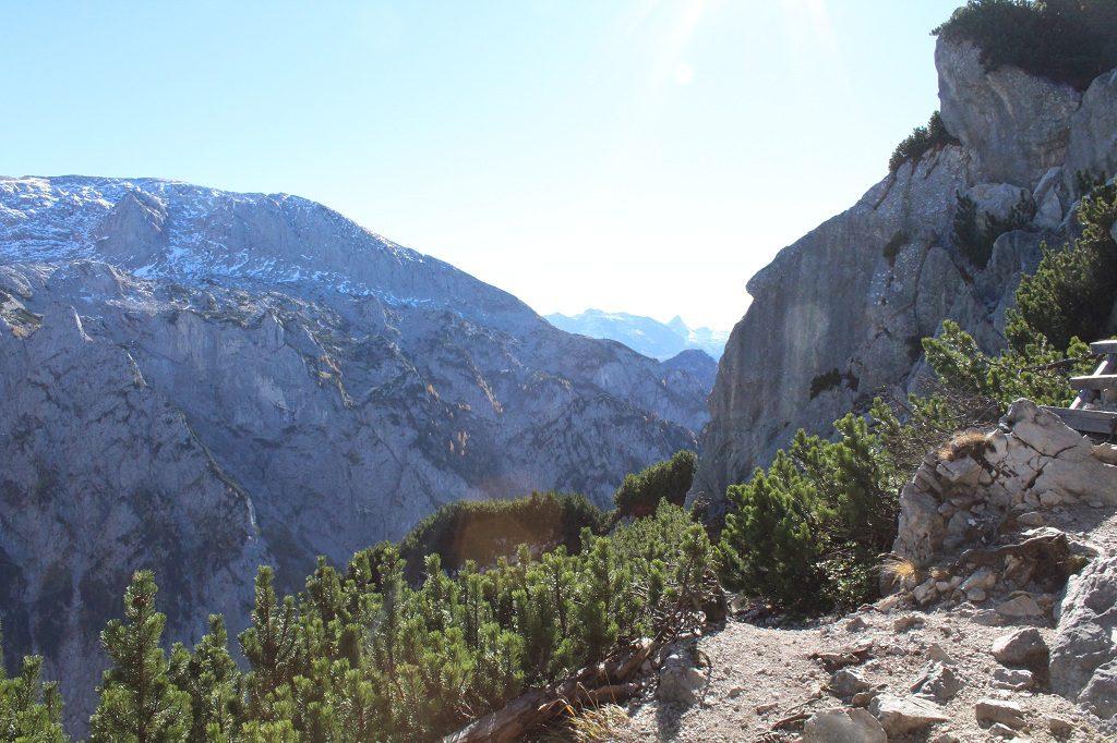 Kehlstein Rundweg - Blick auf die Alpen
