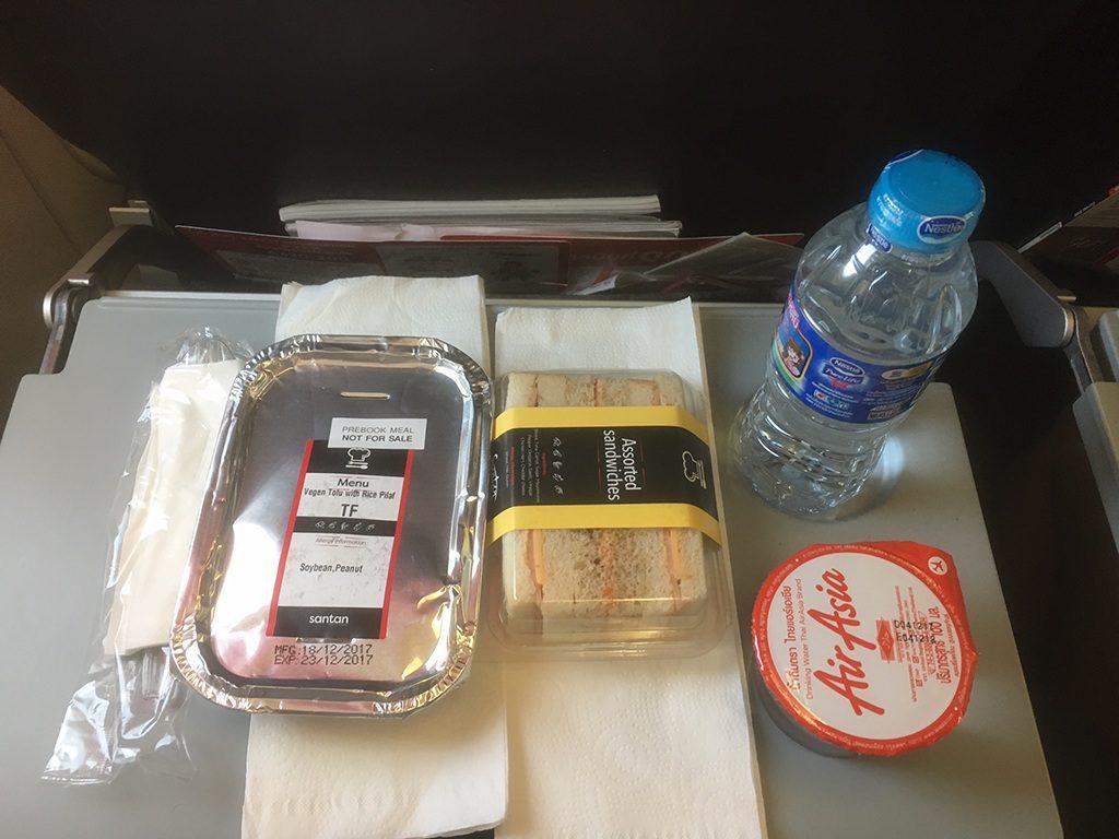 AirAsia - Vegan Tofu mit Reis