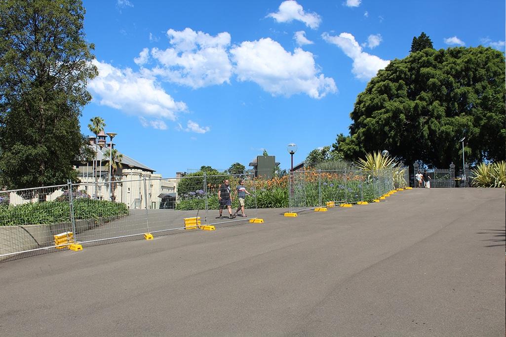 Eingang zum botanischen Garten