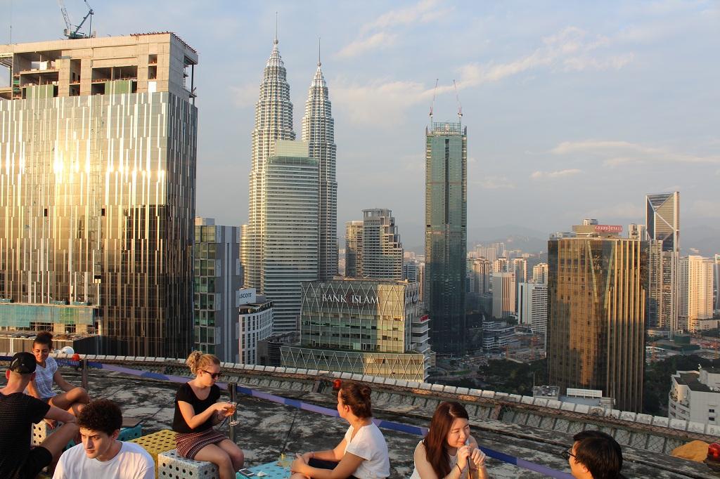 Heli Lounge Bar - Blick auf Kuala Lumpur