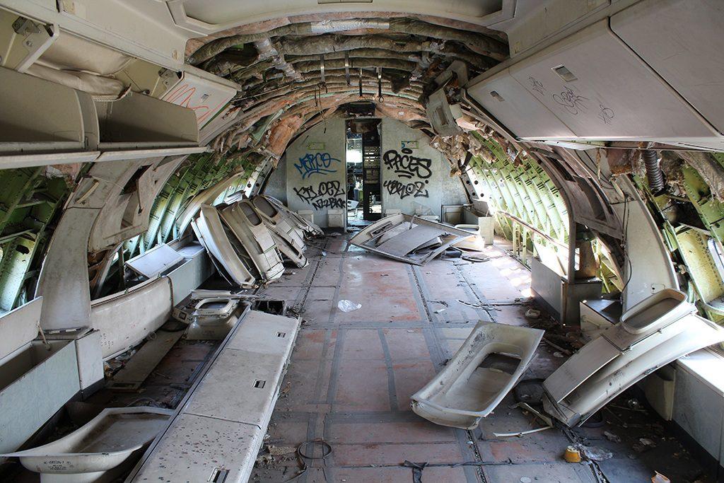 Innenraum von einem Flugzeug