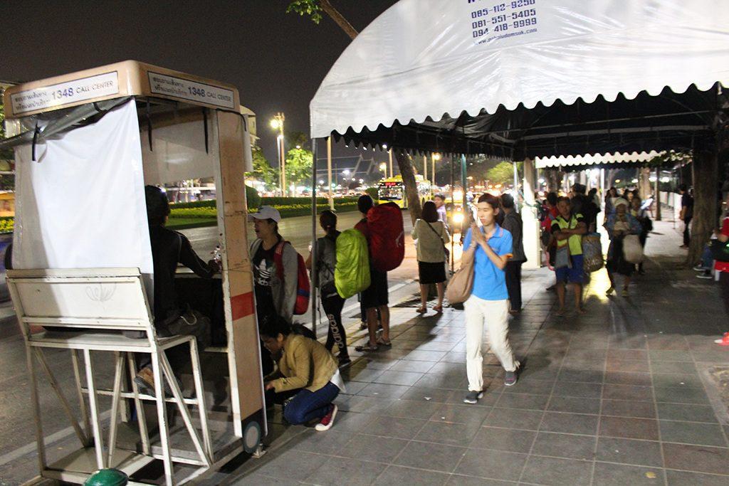 Khao San Road - Bushaltestelle