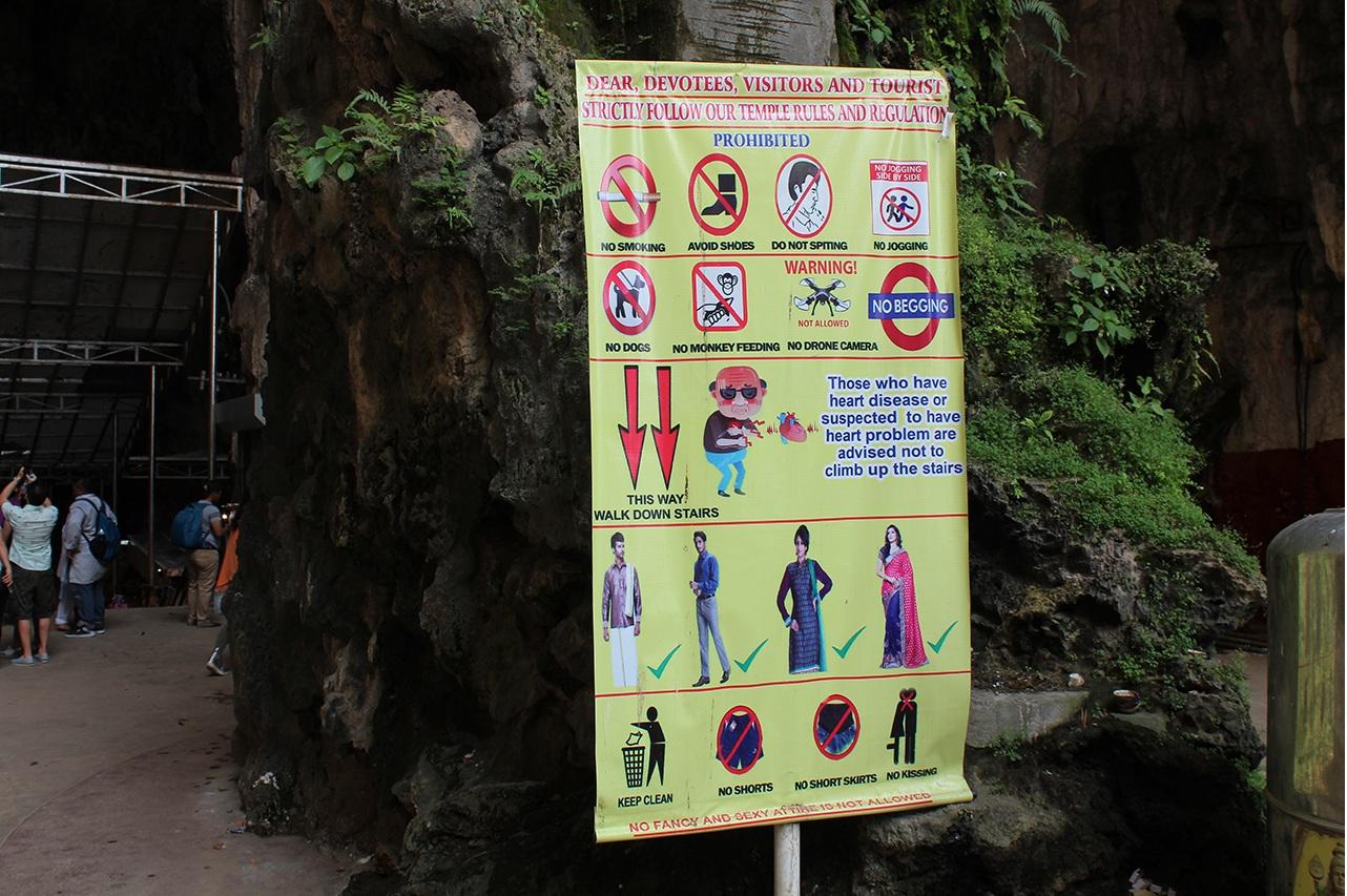 Kleiderordnung - Batu Caves