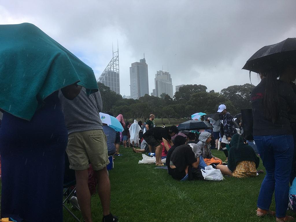 Regenschauer in Sydney